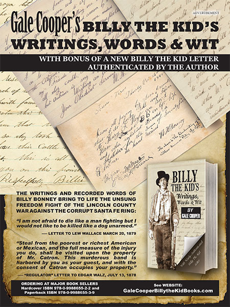 Gale Cooper's Billy the Kid's Writings, Words & Wit